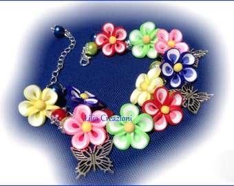 summer flowers bracelet