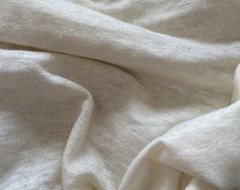 95%Linen 5spandex Natural by the yard Eco-friendly