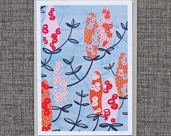 Greeting Cards / Banksia #3 Card, Australiana, Wildflowers, Souvenirs