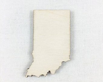 Indiana Wood Shape, Unfinished Wood Indiana Laser Cut Shape, DIY Craft Supply, Many Size Options
