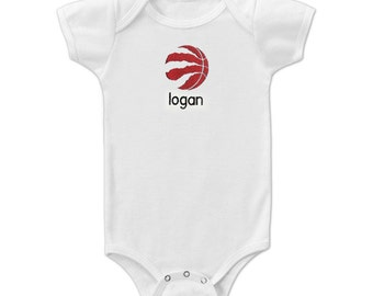 Personalized Toronto Raptors Baby Bodysuit