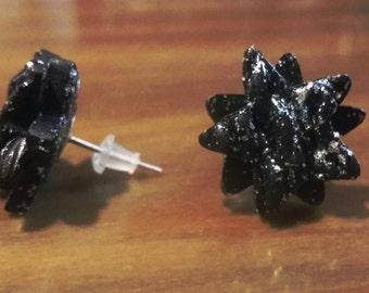 Starry night earrings.