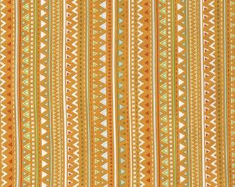 "Dena Designs   FreeSpirit ""Happi Horses"" - Triangles Orange Cotton Fabric"