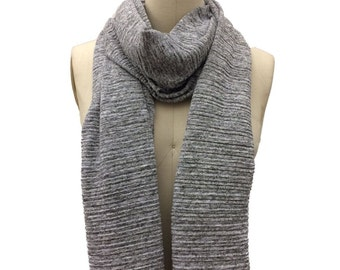 Pleated Sweater Knit Scarf