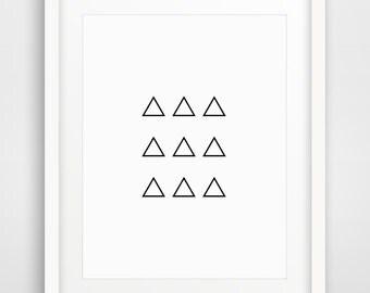 Minimalist Art, Abstract Poster, Abstract Print, Triangles Print, Wall Art, Minimalist Abstract, Modern Print, Nordic Design, Digital Prints