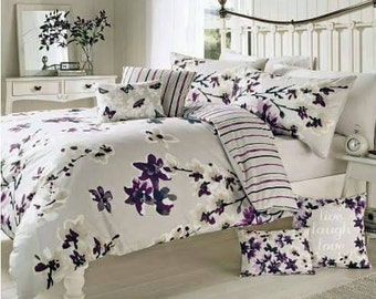 Sakura Mauve by Dreams & Drapes Duvet Sets in four sizes with available accessories