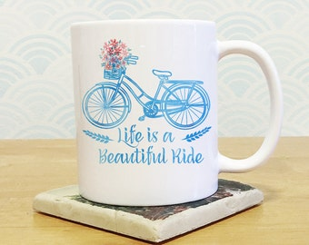 Coffee Mug Bicycle Etsy