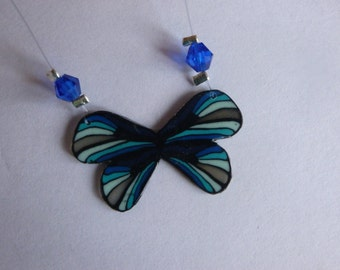 Blue medium Butterfly Necklaces
