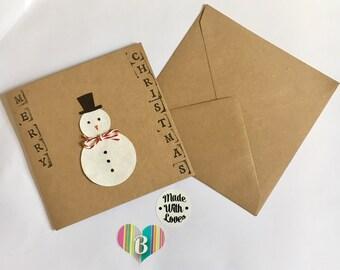 Little Snowman Kraft Christmas Card