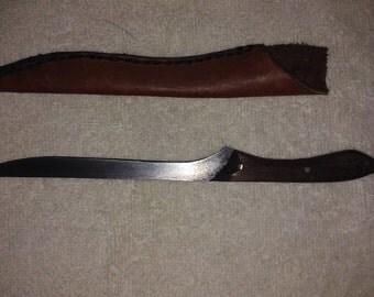 Walnut  and Mogany Fillet Knife