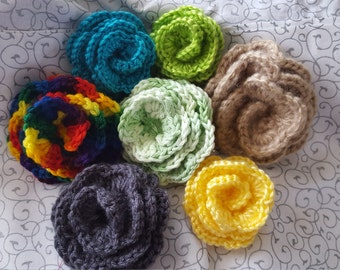 Crocheted Flower Accessories