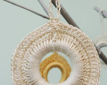 Handmade, Crochet silk, hanging decorations.
