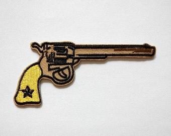 Gun Pistol Wild West Iron On Patch