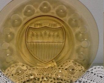 Vintage Amber Bicentinnial Plate