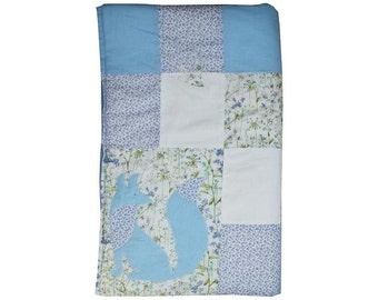 Limited Edition Liberty Print Patchwork Quilt - Blue