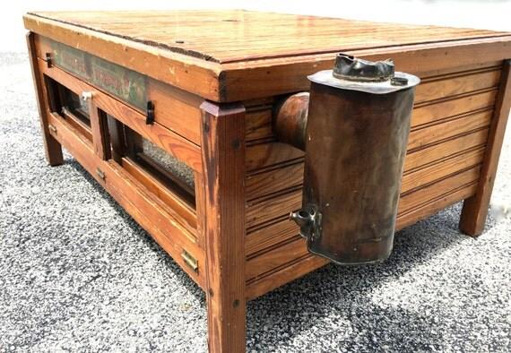 Coffee Table Antique Egg Incubator Farmhouse Style Rustic