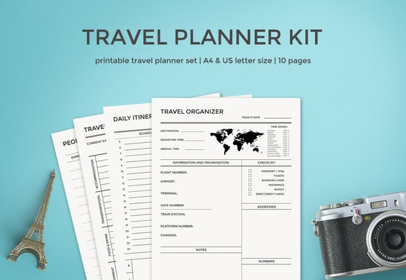 travel planner kit travel journal a4  u0026 letter size vacation