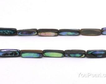 Paua abalone shell, bar shape abalone beads, genuine paua shell strand, natural loose shell beads jewelry, ABA1300
