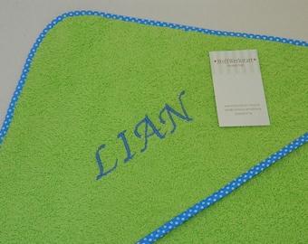 Towels hooded towel baby towel with hood hooded bath towel name desired name green blue