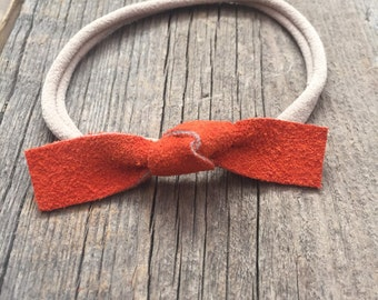 Knotted Suede Bow