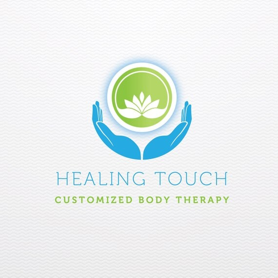 Healing Touch: Healing Touch Premade Customizable Logo With Lotus For