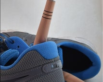 10 Pack of Cedar Shoe Fresheners ~ 'Blue Suede' ~ Easier than shoe trees, just pop them in!  ~ Eliminates unwanted odors!!