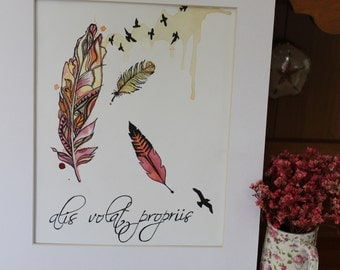 She Flies With Her Own Wings Print