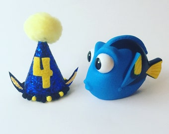 Finding Dory Birthday - Dory party hat - mini party hat - Finding Dory birthday hat - Dory