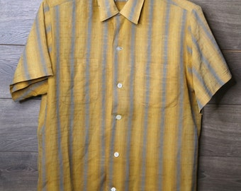 vintage stripped button up