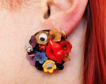 Stud Earrings flower eyes