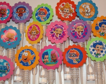 Bubble Guppies Mini bubble wands birthday party favors, set of 15