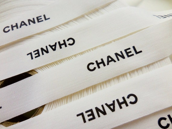 5x meters Authentic Chanel fabric ribbon width 25mm