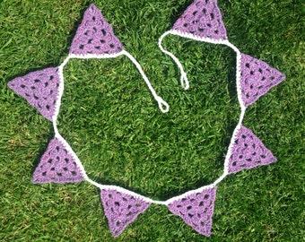 Crochet Granny Triangle Bunting