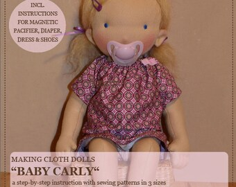 Ebook Baby Doll Carly - DIY instructions - sewing pattern in three sizes