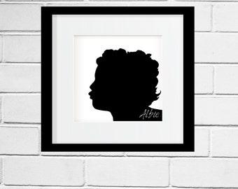 Custom Silhouettes of your family members, art print, custom design