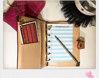 Shopping List for Louis Vuitton PM or Filofax Pocket agenda (Mint)