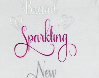 Brand Sparking New  baby girl onesies