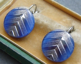 Beautiful EARRINGS - old Czech glass