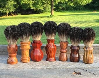 Custom shaving brushes