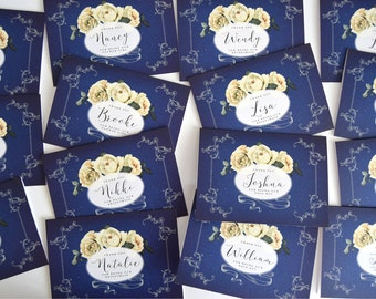 Personalised Navy Bridesmaid Thank You Cards