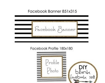 50% OFF DIY facebook timeline cover, blank facebook cover, diy facebook timeline, premade facebook banner, facebook profile banner, INSTANT