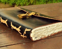 Handcrafted Premium Leather Diary Journal Notebook Sketchbook with a Lock to Protect Your Secrets