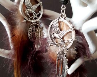 Earrings Fandom Hunger Games - The Mockingjay