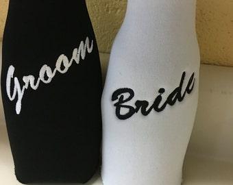 Bride/Groom Bottle Insulator