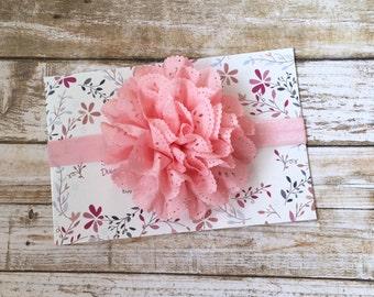 Pink Flower Headband/Baby Headband/Infant Headband/Newborn Headband/Baby Girl Headband/Toddler Headband/Children's Headband/Pink Headband