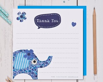Boy's Elephant Thank You cards