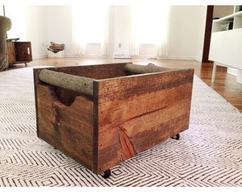 Large Wooden Storage Crate