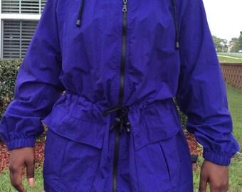 Vintage violet parka jacket