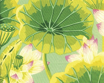Lake Blossoms in Green by Kaffe Fassett - Kaffe Fassett Classics