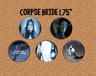 """Corpse Bride - 1.75"""" Pinback Buttons"""